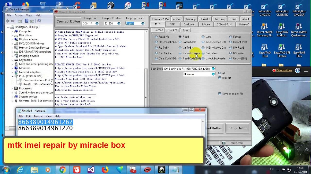 imei repair mtk by miracle box