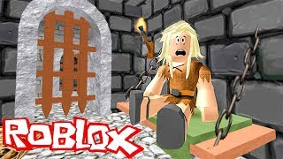 Роблокс   Побег из подземелья Нас съел розовый дракон Приключения мульт героя ROBLOX DUNGEON ESCAPE
