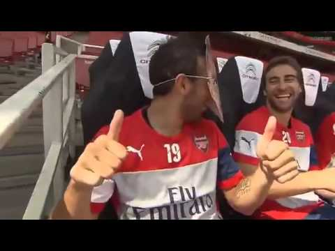 Alexis Sanchez trolled by Santi Cazorla - Arsenal Funny Moments