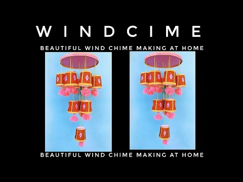 Wind chime making at home // Plastic cup wind chime  ideas// Home Decorating ideas