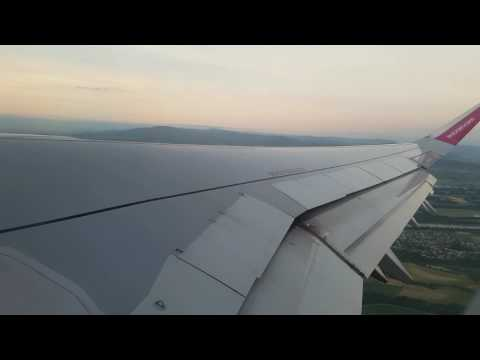 Wizz air take off (Basel to Bucharest flight no.W6 3090)