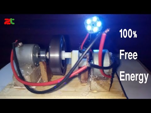 gear wheel free energy | Clean Energy | light bulbs | generator with gear & Dc motor | by Wheel
