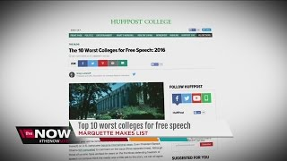 Huffington Post: Marquette University one of Worst for Free Speech