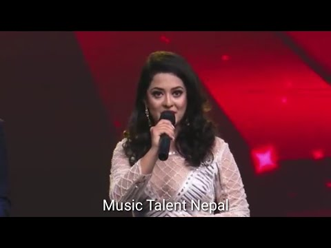 The Introduction of Oshin Sitaula in The Voice of Nepal   The Voice of Nepal - S1 E17 (Live Show)