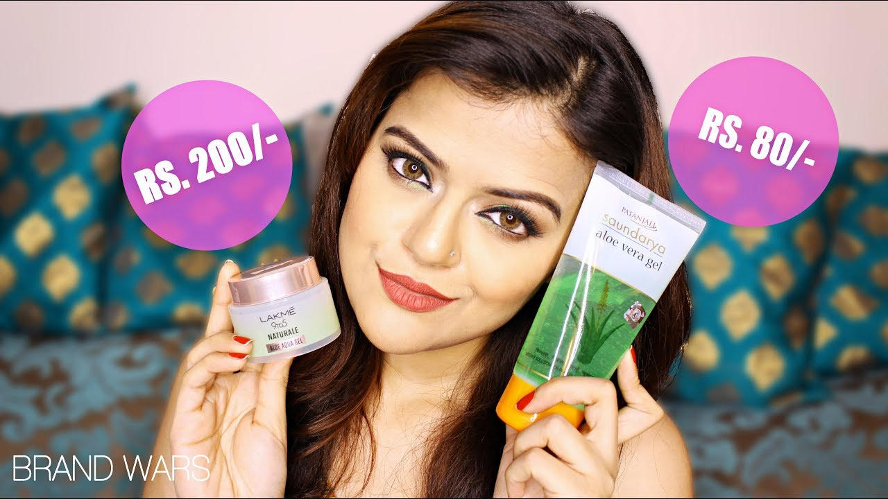 Lakme 9 to 5 Naturale Aloe Aqua Gel vs Patanjali Aloe Vera Gel   Which One Is Better For Skin Care?