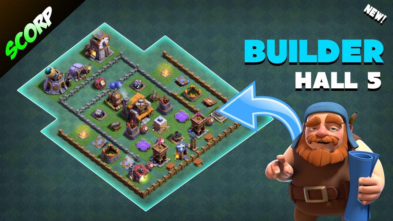 Best builder hall 5 base layout bh5 base layout for Best builder