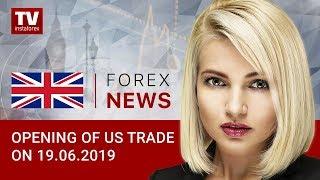 InstaForex tv news: 19.06.2019: Traders expect USD slump? (USD, DJIA, CAD)