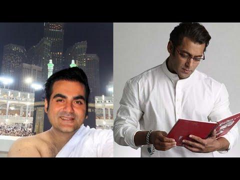 Bollywood actor Arbaaz Khan Umrah news Salim Khan Sohail Khan Salman Khan drink Umrah Hajj news