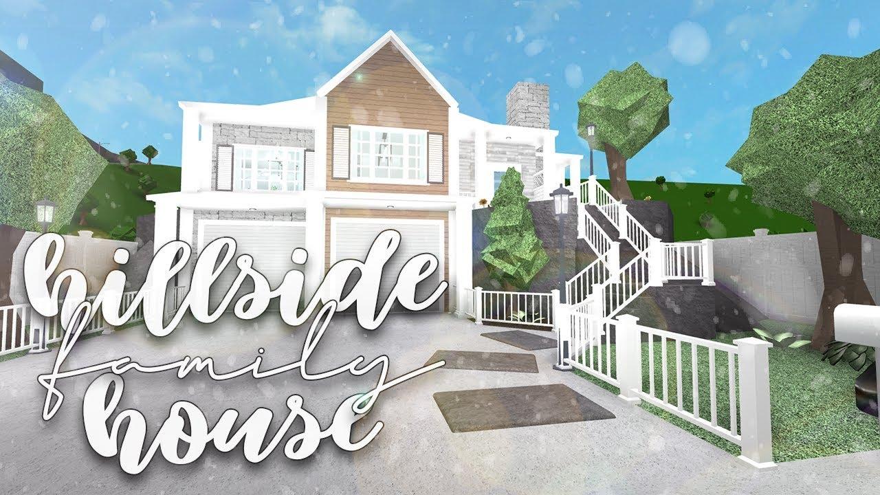 Roblox Bloxburg Family Hillside House Speedbuild Youtube