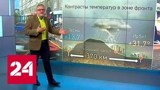 """""""Погода 24"""": штормовое предупреждение в Сибири"""