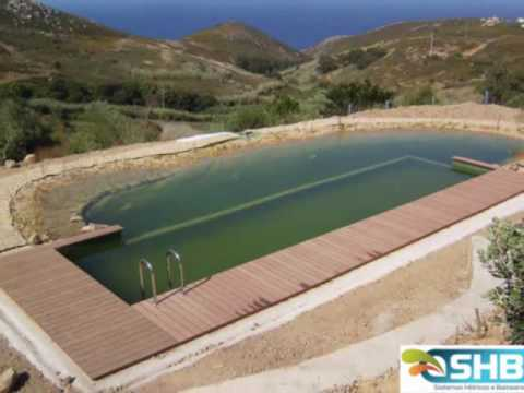 Piscina biol gica no cabo da roca youtube for Como construir una piscina barata