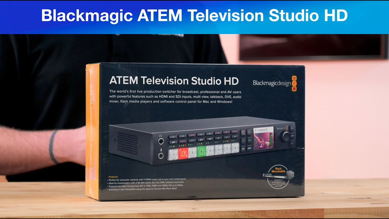 Blackmagic Atem Television Studio Hd Youtube