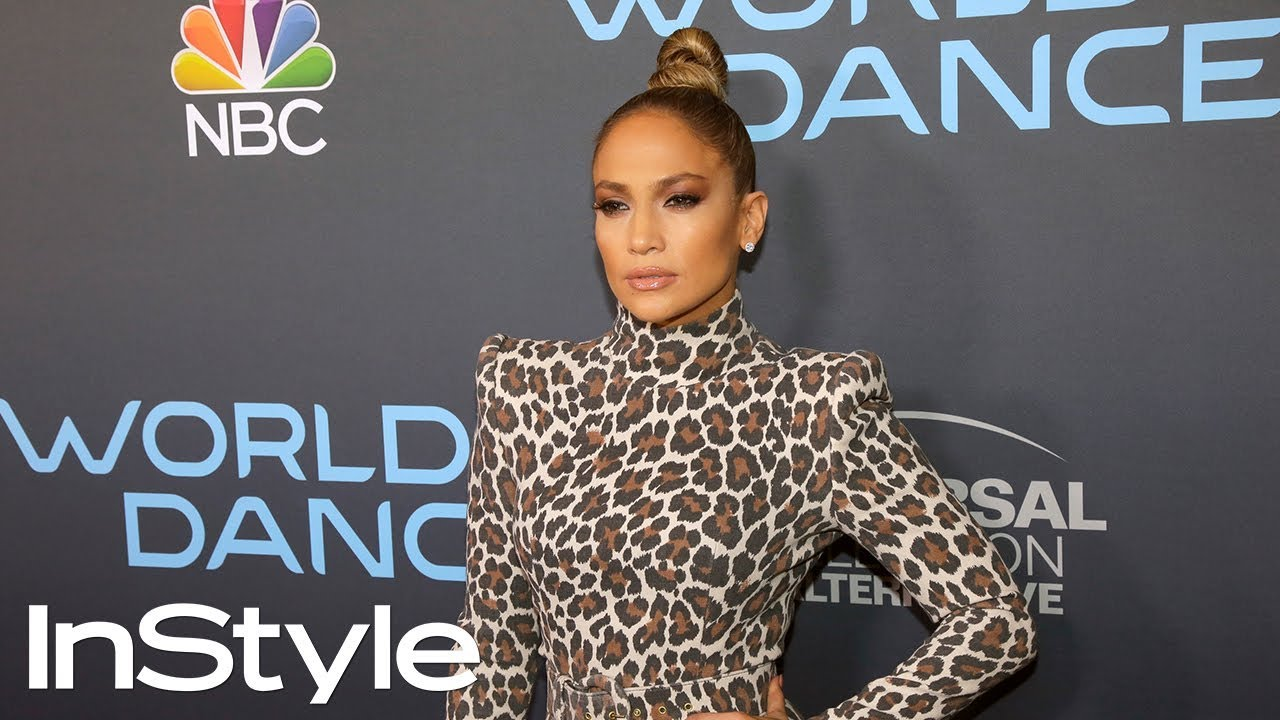 Jennifer Lopez S Sleek Top Knot Hair Tutorial Instyle