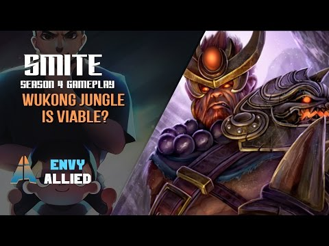 Smite [EnVy] Allied - SEASON 4 WUKONG JUNGLE IS VIABLE? - PT