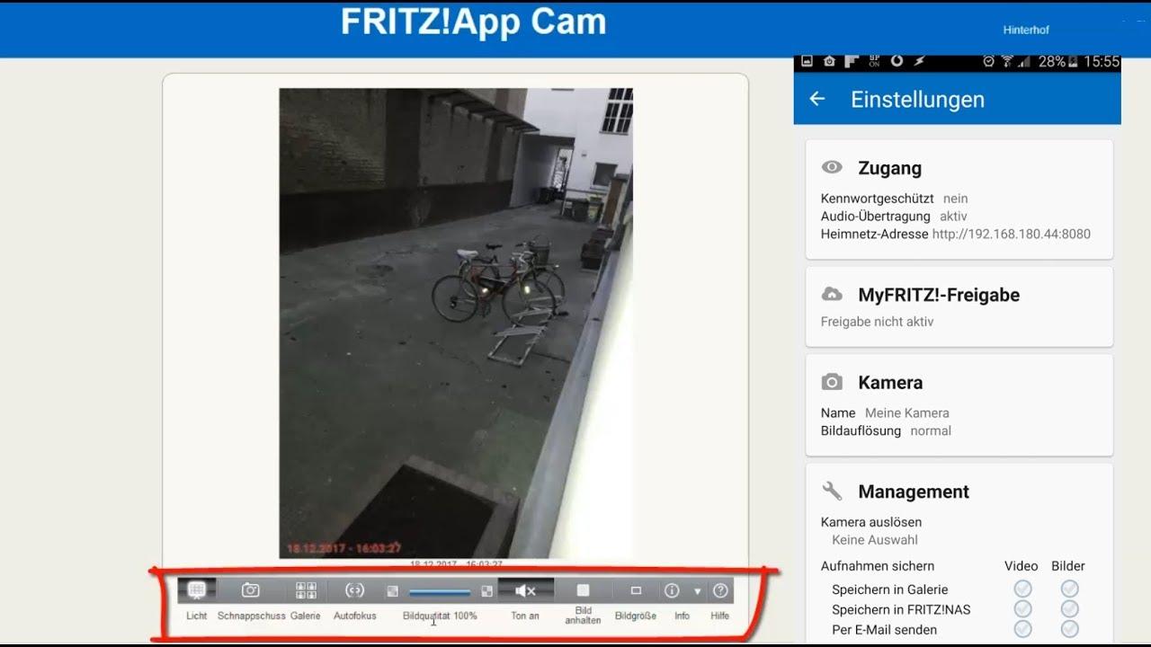 Smartphone O Tablet Als Webcam Ip Cam Mit Fritz App Cam Youtube