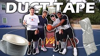 2Hype Duct Taped Together Basketball Challenge!