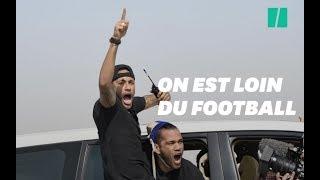 Neymar Jr dans tous ses états pour une course de dromadaires