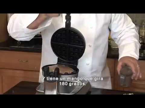 waring pro wmk300a wafflera con rotacin 180 - Waring Pro Waffle Maker