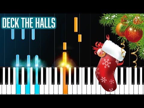"""""""Deck The Halls"""" Piano Tutorial - Chords - How To Play - Cover"""
