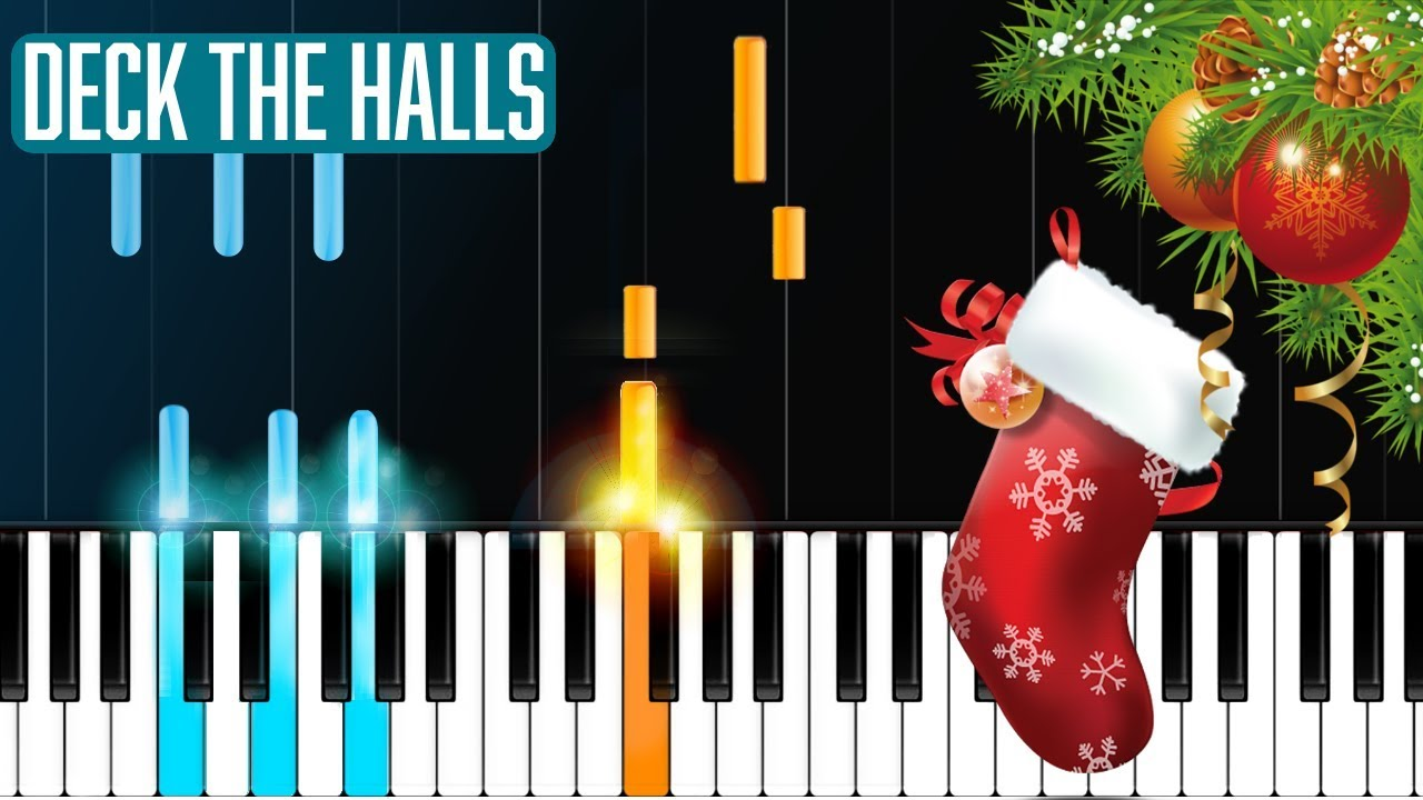 deck the halls piano tutorial chords how to play cover