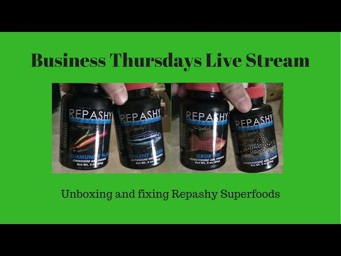 Business Thursdays Live Stream (Jul 6) - Unboxing and fixing Repashy Superfoods