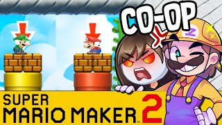 Rennen gegen GLP ! | SUPER MARIO MAKER 2 Coop