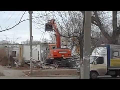 Сносят старые дома в Южноуральске по улице Куйбышева