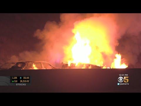 1 Person Dies In Fiery Multi-Car San Jose Crash On Highway 101