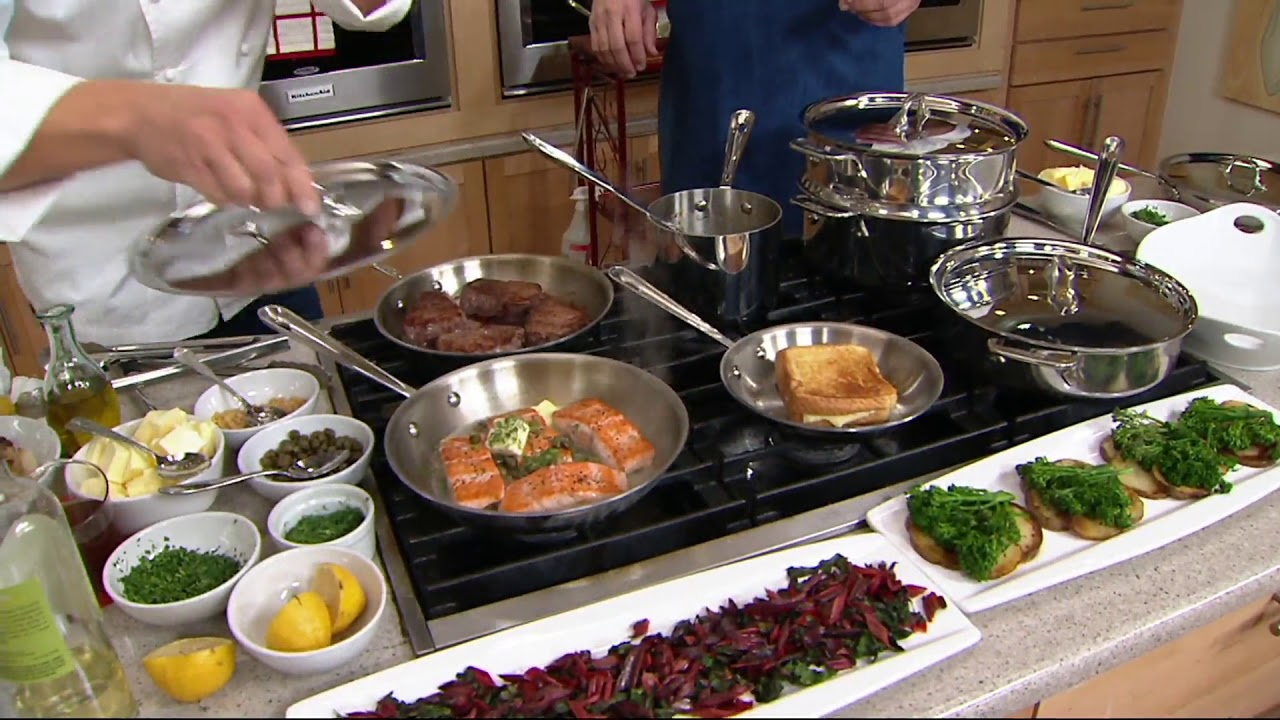 All-Clad Tri-Ply Stainless Steel 10-piece Cookware Set on QVC