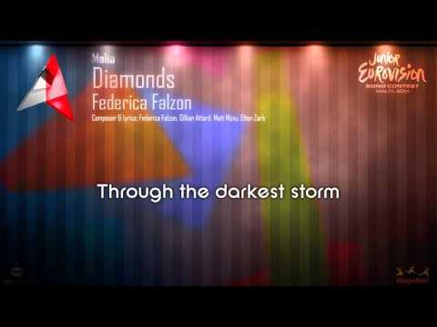 "Federica Falzon - ""Diamonds"" (Malta) - [Karaoke version]"