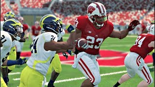 Wisconsin Badgers vs Michigan Wolverines  – NCAA 14 Gameplay (Updated 2019 Rosters) NCAA 9/21/2019