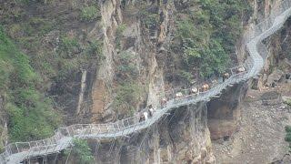 यस्तो छ नेपाल कै पहिलो भीर खोपेर बनेको पुल Awesome Cantilever Bridge In Gorkha Nepal