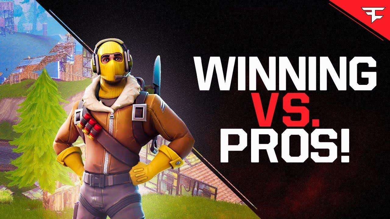 Winning Vs Pros Fortnite Battle Royale Scrim Youtube