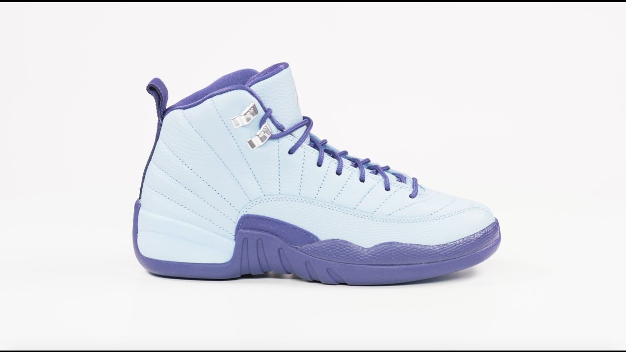 69800d6f22e42 Sneakers In 4K  Air Jordan 12 GS Dark Purple Dust - YouTube