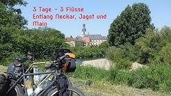 Radtour entlang der Flüsse Neckar, Jagst und Main