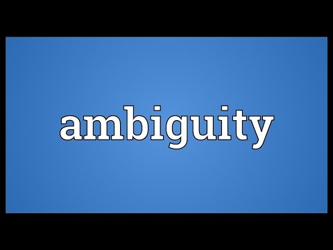 Ambiguity Meaning