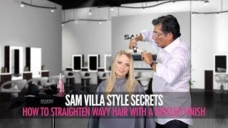 How To Safely Straighten Wavy Hair & Create a Sleek Beveled Finish