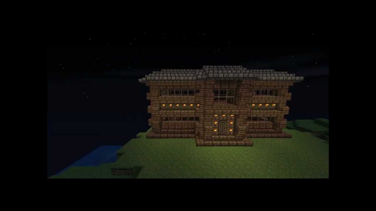 minecraft cool simple wooden house youtube