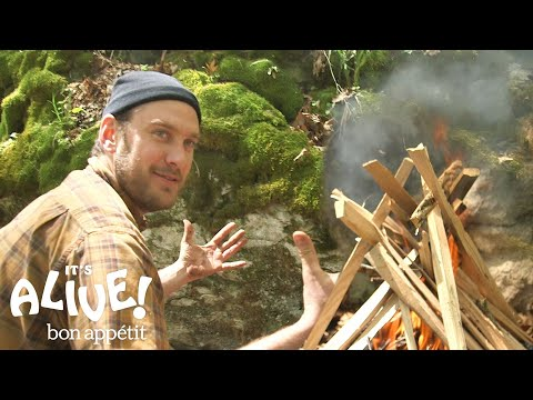 How to Grill a Steak on a Campfire  It's Alive with Brad  Bon Appétit