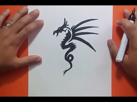 Como dibujar un dragon tribal paso a paso 6 How to draw