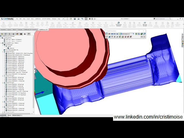 CAMWorks – Turbine blade 5 axis machining  – CAD-CAM Engineering