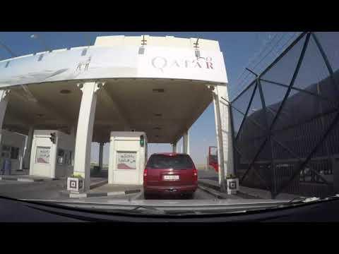 A road trip to Qatar - Bahrain To Doha - Time lapse