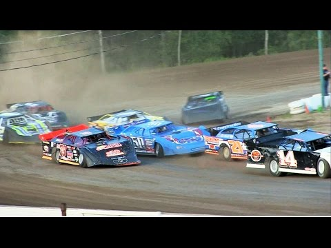 Late Model Heat 2 at Mt Pleasant Speedway on 8-19-16