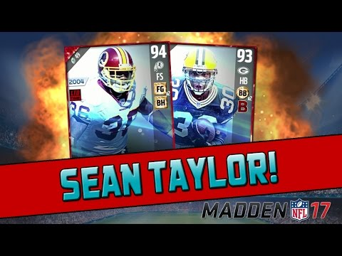 Disgusting Blitz Pack! | Madden 17 Ultimate Team - Sean Taylor & Ahman Green