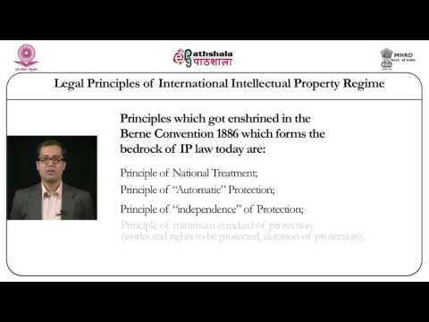Legal principles of international intellectual property regi