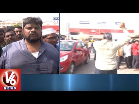 Municipal Officials Removes Shops Near Khammam Railway Station, People Protest Against Officials |V6