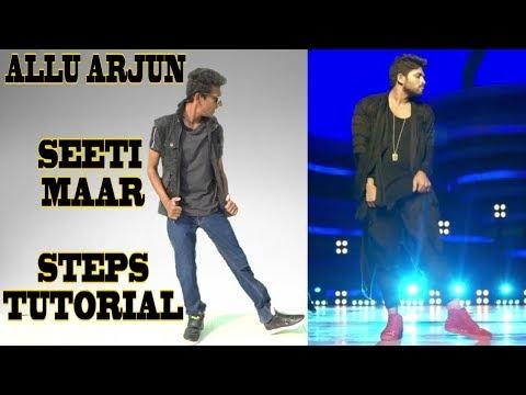 Allu Arjun - Seeti Maar | DJ | Signature Step Tutorial | Nishant Nair