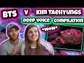 BTS V / Kim Taehyungs deep voice compilation Reaction