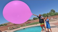 GIANT 20ft BALLOON POOL PARTY? WHAT HAPPENS?!