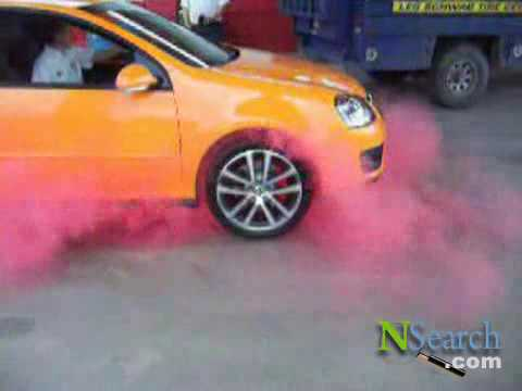 Kumho Tires Red Smoke Burnout 4 Youtube